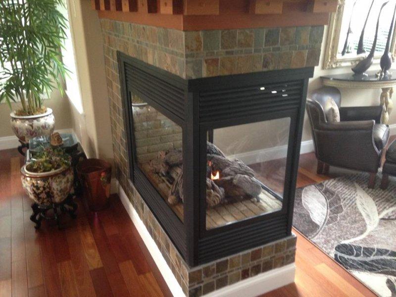 gas fireplace napoleon fireplace 3sided