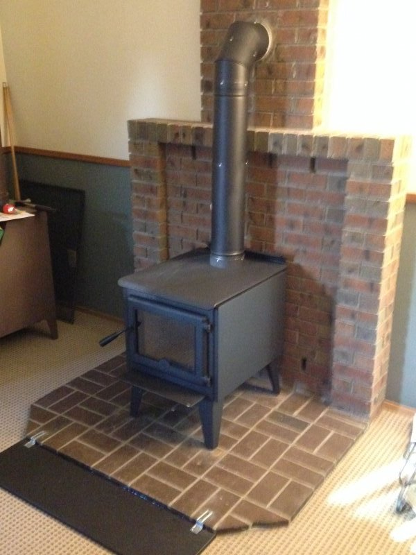 Wood Stove Installation - Pacific Energy True North Stove - Wood Stove Installations FlameTech Heating