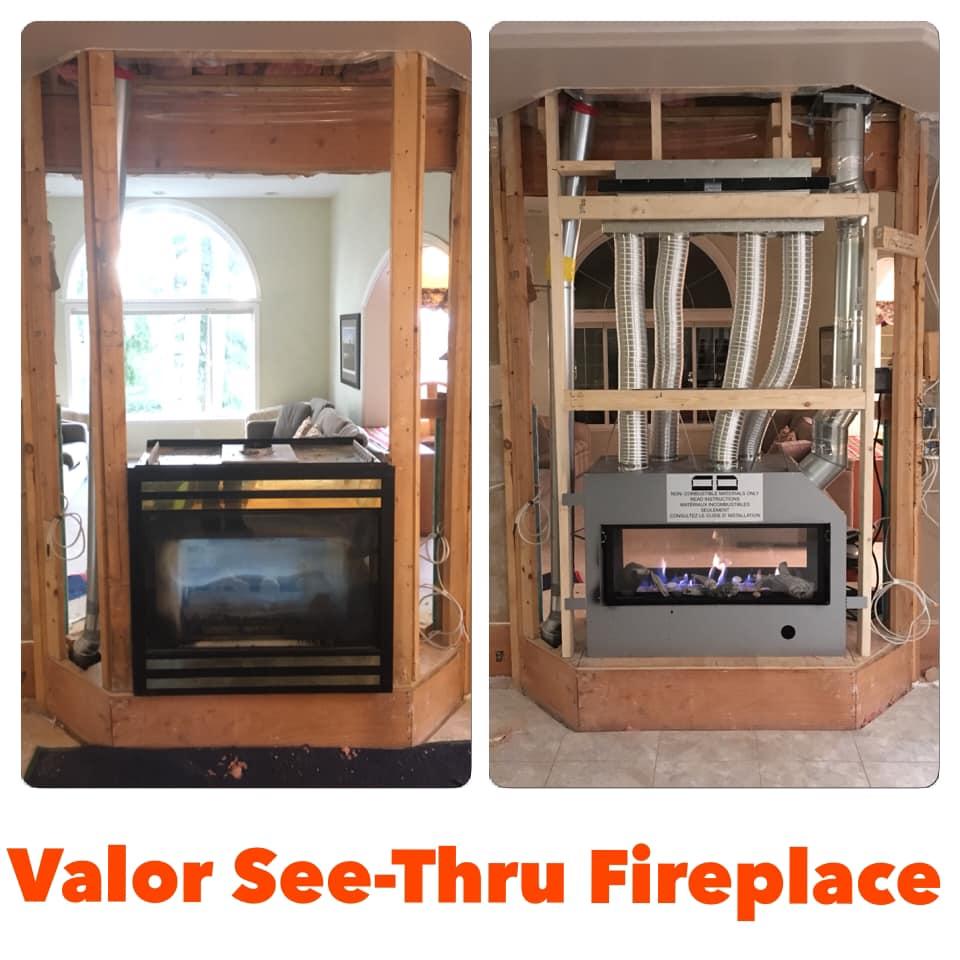 Valor L1 See-Thru Gas Fireplace