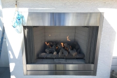 Majestic Outdoor Fireplace