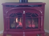 Gas Stove Installations - Vermont Castings Radiance Red Enamel