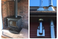 Enviro Wood Stove & Base Tee Chimney System